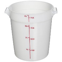 Cambro RFS4148 White Poly Round 4 Qt Storage Container by Cambro