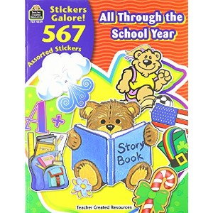 Sticker Book, All Through the School Year, 567/Pack (並行輸入品)