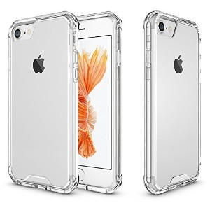 iPhone 7 Case,SOUNDMAE Armor Transparent Clear TPU Frame Shockproof Protective Case Scratch...