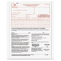 1096 IRS Approved Tax Forms, 8 x 11, 2-Part Carbon, 10 Contin Forms (並行輸入品)