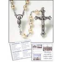 Glass Pearl Rosary by Living Grace