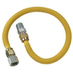 """1/2"""" M.I.P. X 1/2"""" F.I.P. Stainless Steel Gas Connector-1/2X48 GAS CONNECTOR (並行輸入品)"""