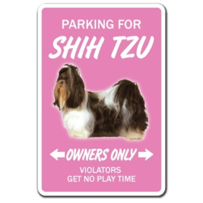 PARKING FOR SHIH TZU OWNERS ONLY サインボード:シーズー オーナー専用 駐車スペース 標識 看板 MADE IN U.S.A [並行輸入品]