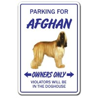 PARKING FOR AFGHAN OWNERS ONLY サインボード:アフガン オーナー専用 駐車スペース 標識 看板 MADE IN U.S.A [並行輸入品]