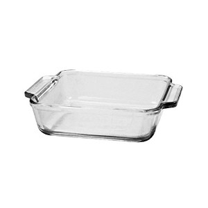 Anchor Hocking 81932OBL11 Oven Basics Casserole Dish with Lid, 2 quart, Clear by Anchor Hocking