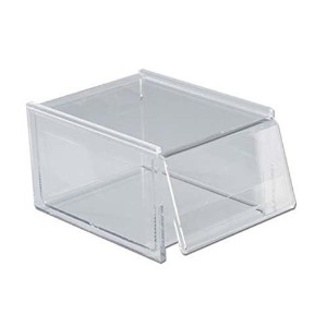 Classic Acrylic Recipe Box - Holds 700 4x6 Inch Cards - Made in the USA by Clear Solutions