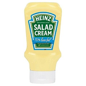 Heinz Top Down Light Salad Cream 70% Less Fat 435g - Pack Of 2 ハインツ ライト(カロリー控えめ 70%OFF) サラダクリーム