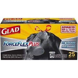 Glad ForceFlex Drawstring Large Trash Bags-30GAL/25CT TRASH BAGS (並行輸入品)