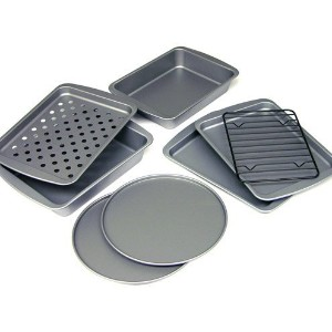 OvenStuff 8-Piece Personal-Size Toaster Oven Bakeware Set by OvenStuff