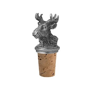 Epic Products Moose Head Bottle Stopper, Pewter by EPIC