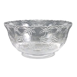 Crystalware Maryland Plastics Large Punch Bowl, 12 quart, Clear by Crystalware