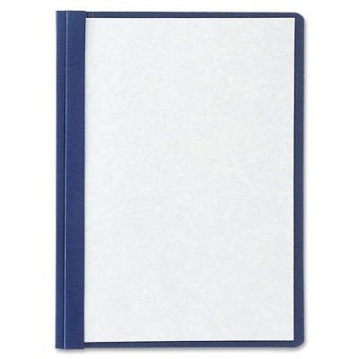 """Linen Finish Report Cover, Tang Clip, Letter, 1/2"""" Capacity, Clear/Black, 5/Pack (並行輸入品)"""