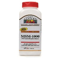 MSM 1000 mg Maximum Strength, Tablets 360 Count (in 2 bottles)