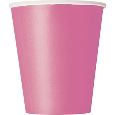 (Hot Pink, Pack of 8) - 270ml Hot Pink Paper Cups, Pack of 8