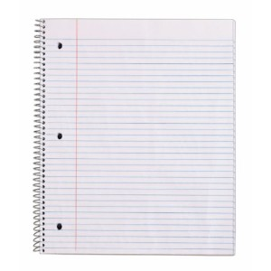 JAMMIT Pocket Wirebound Notebook, Ruled, 9 x 11, White, 100 Sheets/Pad (並行輸入品)