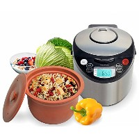 VitaClay VM7900-6 Smart Organic Multi-Cooker- A Rice Cooker, Slow Cooker, Digital Steamer plus...