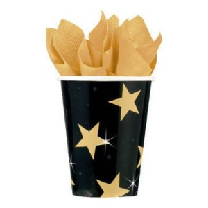 Pack Of 8 Star Paper Cups