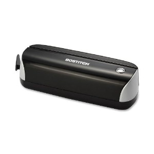 12-Sheet Capacity Electric Three-Hole Punch, Black (並行輸入品)