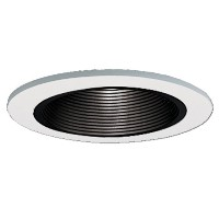 Halo Recessed 1493P 4-Inch Trim with Black Baffle, White by Halo Recessed