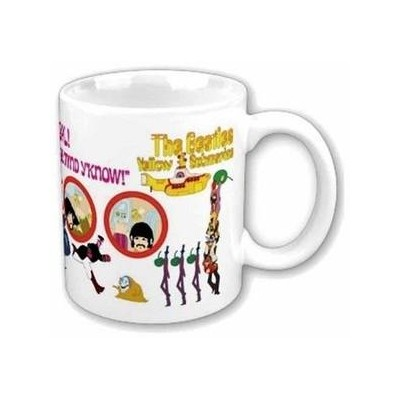 Beatles Mug, Yellow Submarine, Nothing Is Real