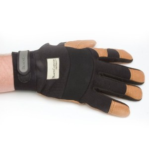 BlackCanyon Outfitters 86420-L Large Flex Back and Leather Grip Work Gloves