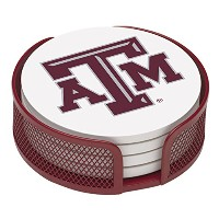 Thirstystone VTXAM2-HA22 Stoneware Drink Coaster Set with Holder, Texas A and M by Thirstystone