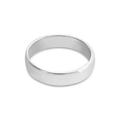 925 Sterling Silver Wedding Ring Band (4mm) (12)