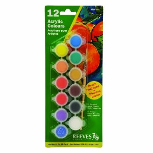 Reeves Acrylic Paint Pots-Assorted Colors (並行輸入品)