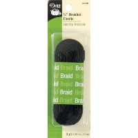 "Braided Elastic 1/4""X3 Yards-Black (並行輸入品)"