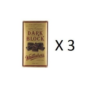ウィッタカー Chocolate Block 50% Cocoa Dark 250g 3EA [並行輸入品]