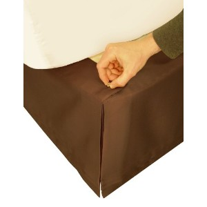 "Veratex Adjustable Bed Skirt Queen, Chocolate ""Hike Up Your Skirt"" Veratex by Veratex [並行輸入品]"