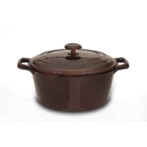 BergHoff Neo - Covered Casserole Stock Pot - Cast Iron - Brown - 28cm 6.9l/7.3 Quart