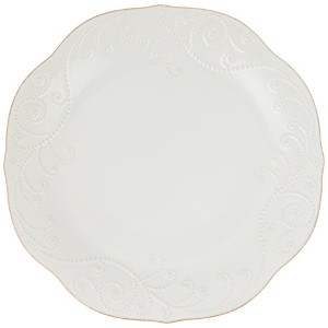 Lenox French Perle Dinner Plate, White by Lenox