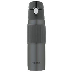 Thermos Vacuum Insulated 18 Ounce Stainless Steel Hydration Bottle, Charcoal サーモス 水筒 チャコール【並行輸入品】