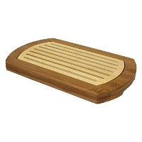 Simply Bamboo Multi-Purpose Two-Tone Bamboo Crumb Tray / Cutting Board / Serving Tray (16 X 10) by...