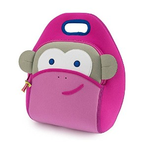 Dabbawalla Lunch Bag, Monkey See ランチバッグ ピンク ゴリラ
