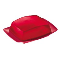 koziol RIO Butter Dish, solid raspberry red by Koziol