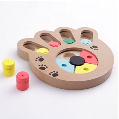 Zhhlinyuan 実用的 Eco-friendly Pet Intelligence Toy Wooden Toy for Dogs Cats Small Pets
