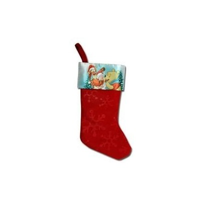 """1 X Winnie The Pooh 18"""" Felt Christmas Stocking with Printed Satin Cuff & Hangtag by UPD [並行輸入品]"""