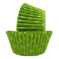 Regency Wraps Greaseproof Baking Cups, Lime Green and White Polka Dots, 40-Count, Standard. by...