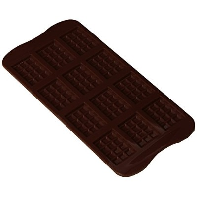 Silikomart Silicone Easy Chocolate Mold, Chocolate Bar, Small by Silikomart