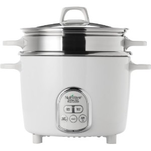 Aroma Housewares NutriWare 14-Cup (Cooked) Digital Rice Cooker and Food Steamer, White by Aroma...