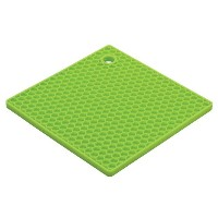 HIC Honeycomb Silicone Trivet, 7-Inch, Light Green by HIC Harold Import Co.