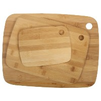 Core Bamboo Classic Cutting Board Combo Pack, Natural, Small/Medium/Large by Core Bamboo