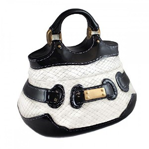 Black and White Handbag Cookie Jar with Gold Buckle by Neiman Marcus