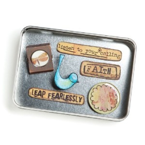 Kelly Rae Roberts Faith Magnets - Set of 6 Assorted * Demdaco Decor 14356 by Kelly Rae Roberts