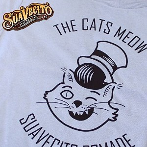 USA製 SUAVECITO POMADE スアベシート ジュニア・ユース用 THE CATS MEOW キャット プリント 半袖 Tシャツ (YOUTH L)