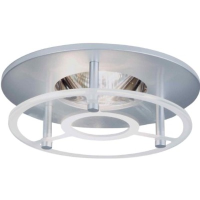Halo Recessed 3019RGSC 3-Inch Round Etched Glass, Satin Chrome by Halo Recessed
