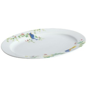 Paula Deen Dinnerware 10-Inch x 14-Inch Porcelain Stoneware Oval Platter, Spring Medley by Paula...
