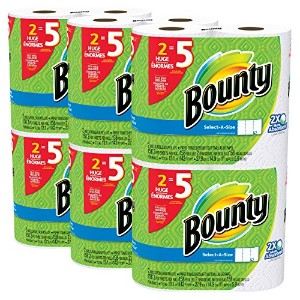 Bounty Paper Towels Select A Size 12 Huge Rolls = 30 Regular Rolls, 12 ct by Procter & Gamble ...